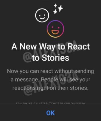 Réactions Instagram Stories